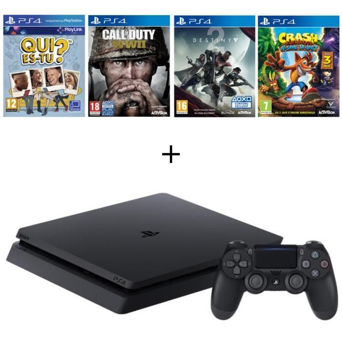 🔥 Soldes : un pack PS4 Slim 500 Go + 4 jeux à 329 euros sur Cdiscount