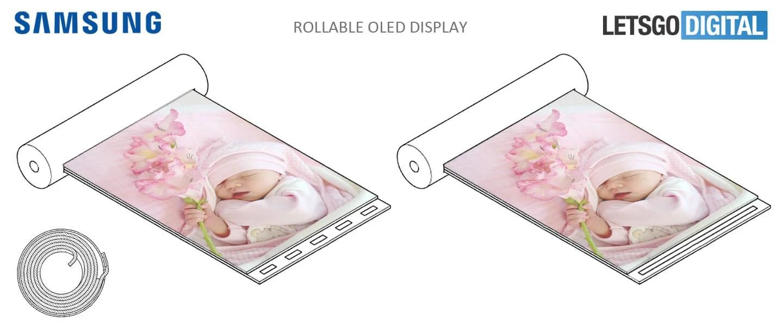 Samsung réfléchit à un appareil à écran enroulable avec capteur d'empreintes digitales