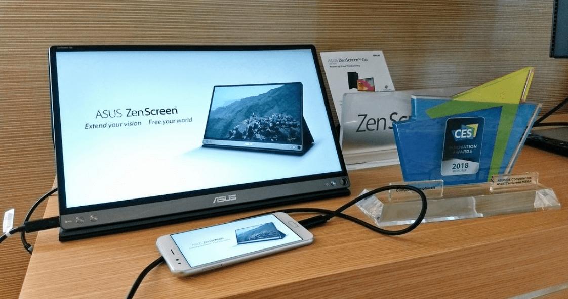 Asus Zenscreen Go, l'écran transportable USB Type-C intègre désormais une batterie