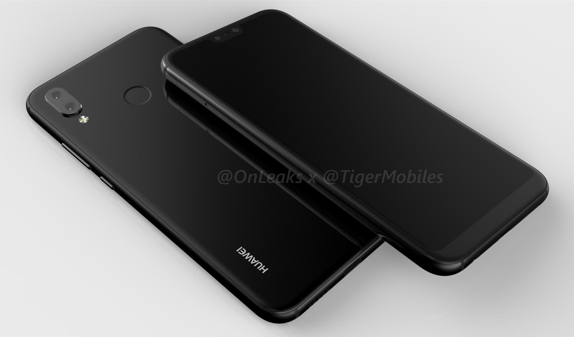 Huawei P20 Lite : son design intégrerait bien un «notch» comme l'iPhone X