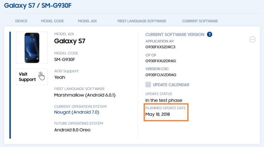 Samsung Galaxy S7 / S7 Edge : la mise à jour Android Oreo repoussée