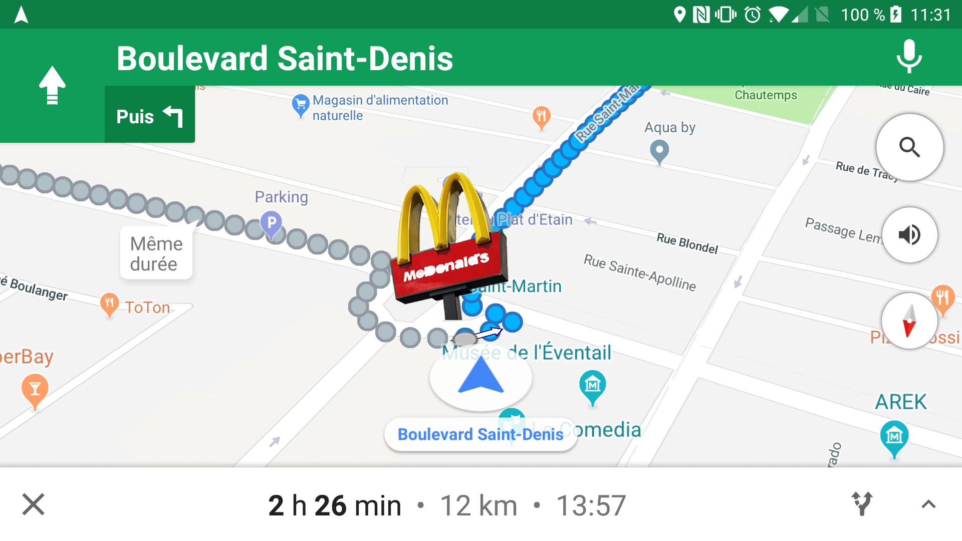 Google Maps : « tournez à droite après le McDonald's » (ou le Burger King)