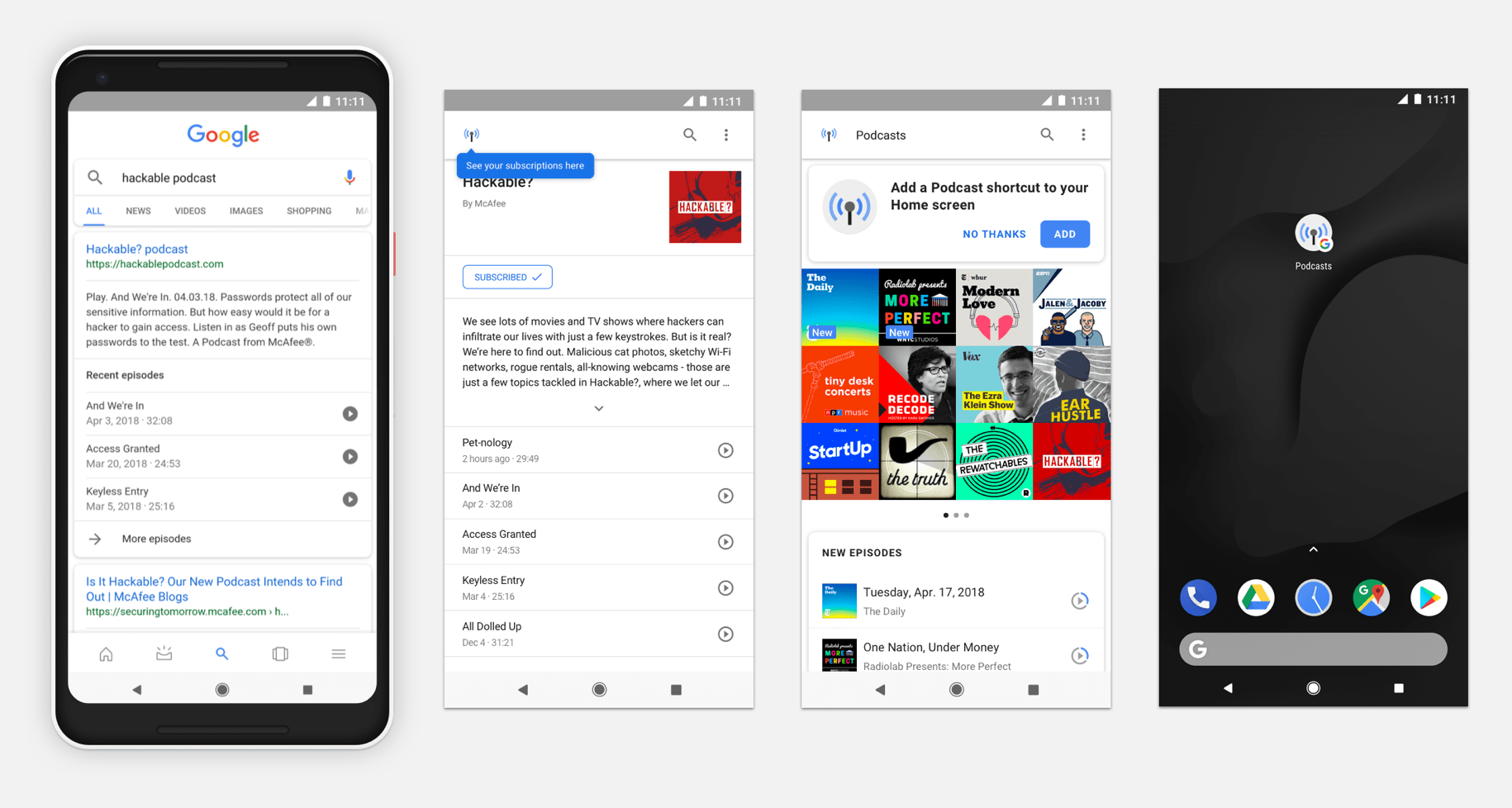 Google Podcasts : l'interface Material Theming disponible, en attendant l'application du Play Store