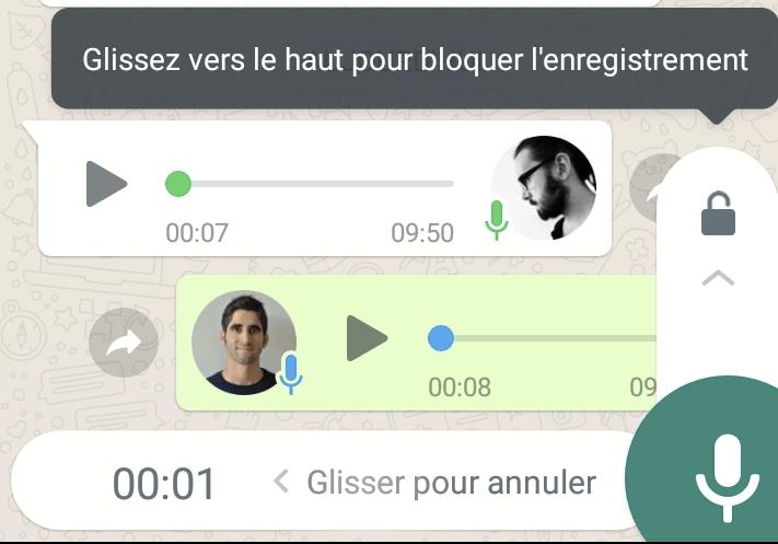 WhatsApp prépare une option pour simplifier l'enregistrement des messages audio