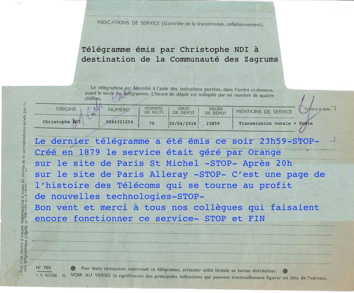Le dernier « télégramme » français n'a en fait plus grand chose à voir avec un vrai télégramme