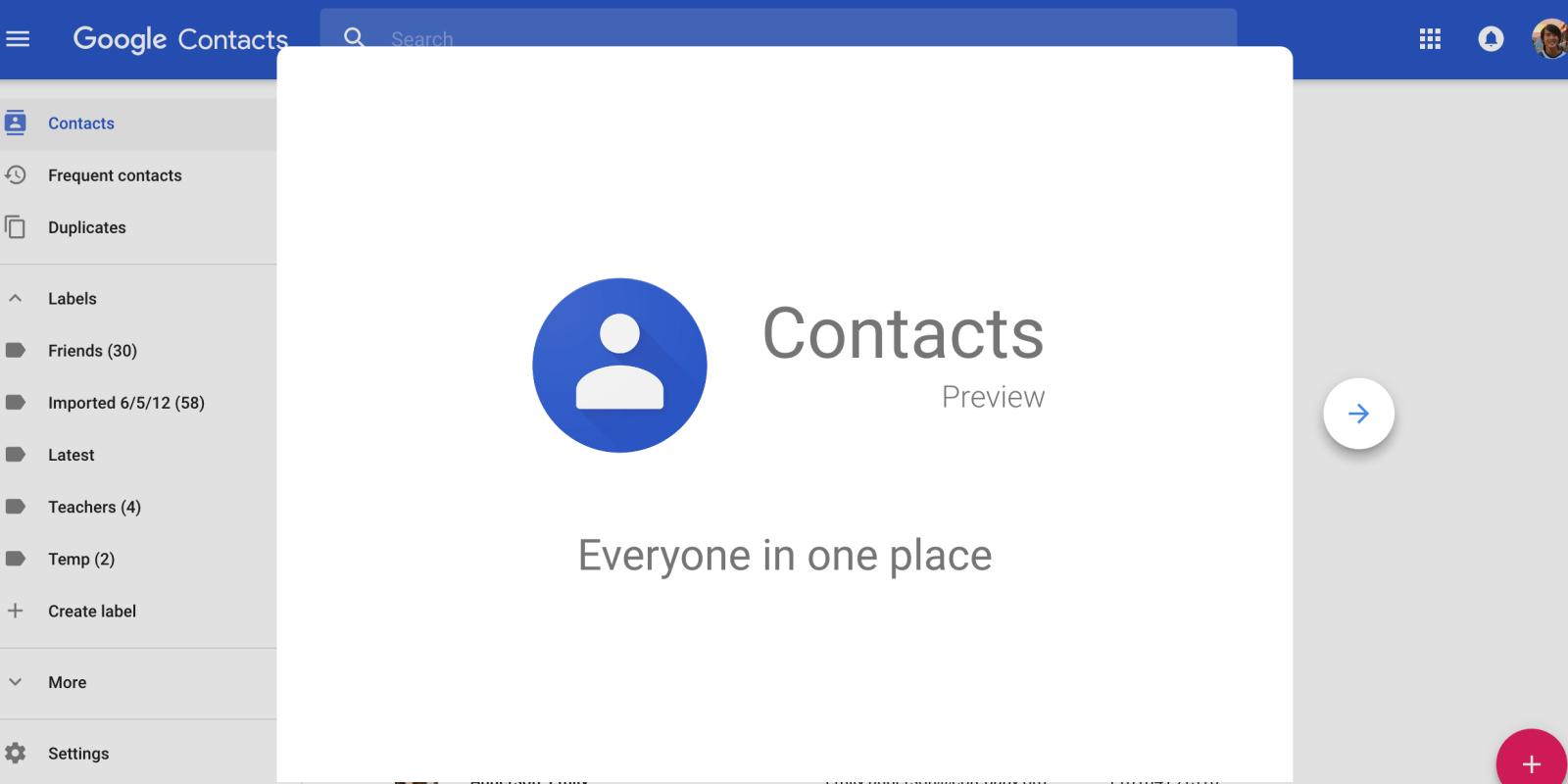 Google Contacts 2.7 : nouveau widget et meilleures suggestions en approche