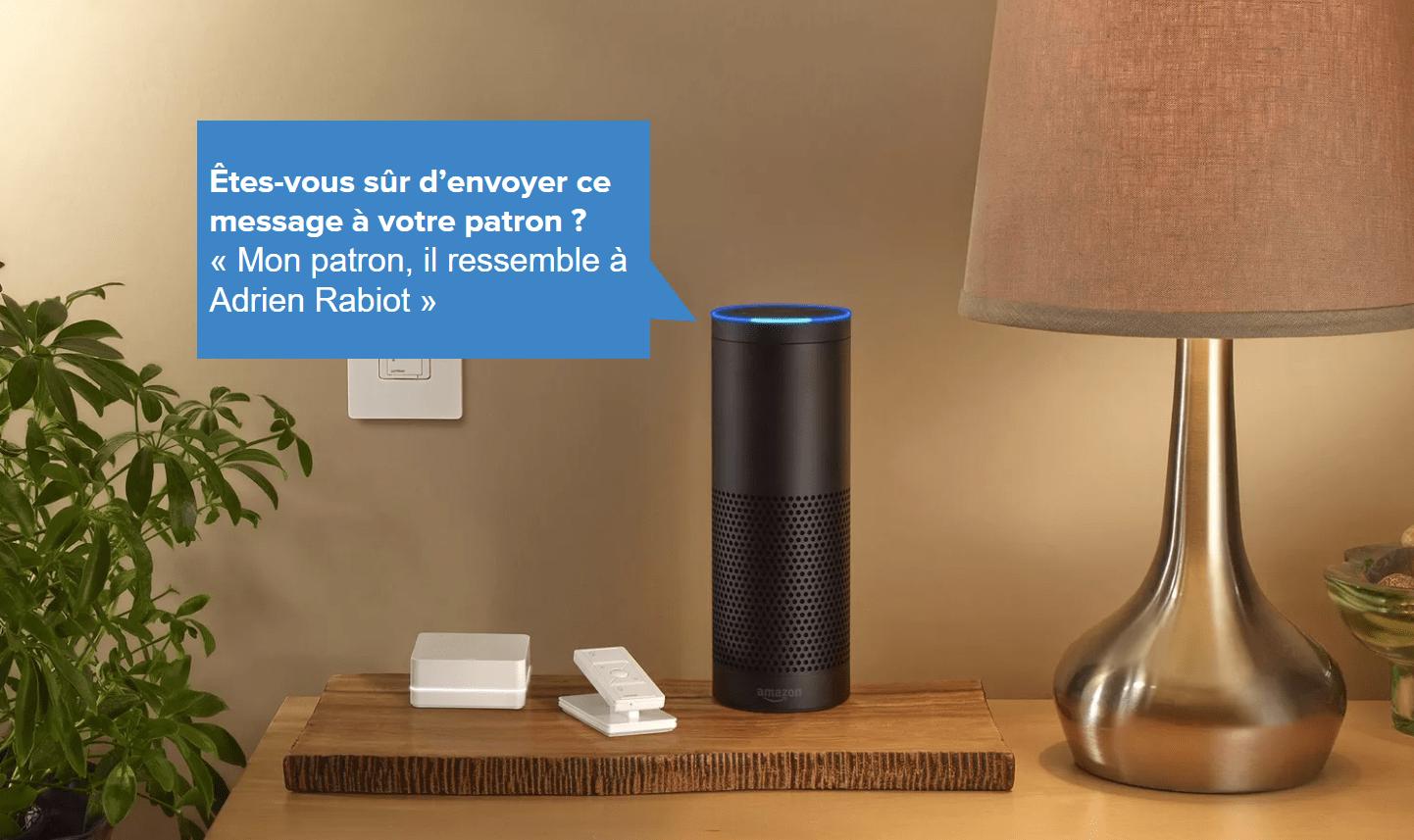 L'assistant Amazon Alexa a enregistré une discussion privée et l'a envoyée à un contact au hasard