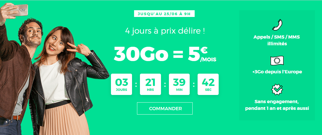 🔥 Bon plan : forfait illimité 30 Go pour 10 euros par mois à vie chez RED SFR, comment en profiter ?