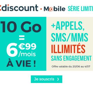 🔥 Bon plan : forfait 10 Go sans engagement à seulement 6,99 euros par mois à vie