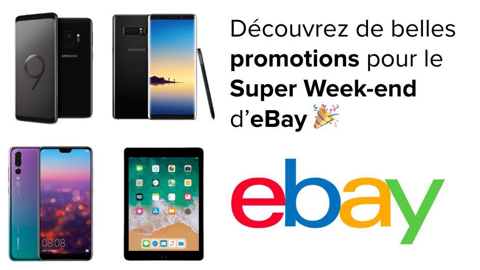 🔥 Samsung Galaxy S9, S8, Note 8, Huawei P20 Pro et iPad 2018 en promo sur eBay