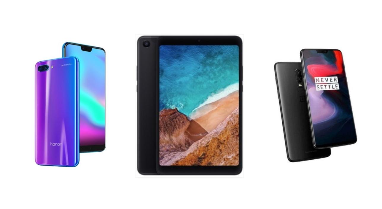 Xiaomi Mi Pad 4 à 232 euros, Honor 10 (128) Go à 327 euros et OnePlus 6 à partir de 411 euros