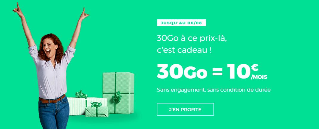 🔥 Prolongation : forfait 4G+ 30 Go pour 10 euros par mois à vie chez RED by SFR