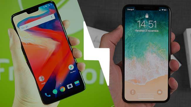 OnePlus 6 vs iPhone X : le match du notch