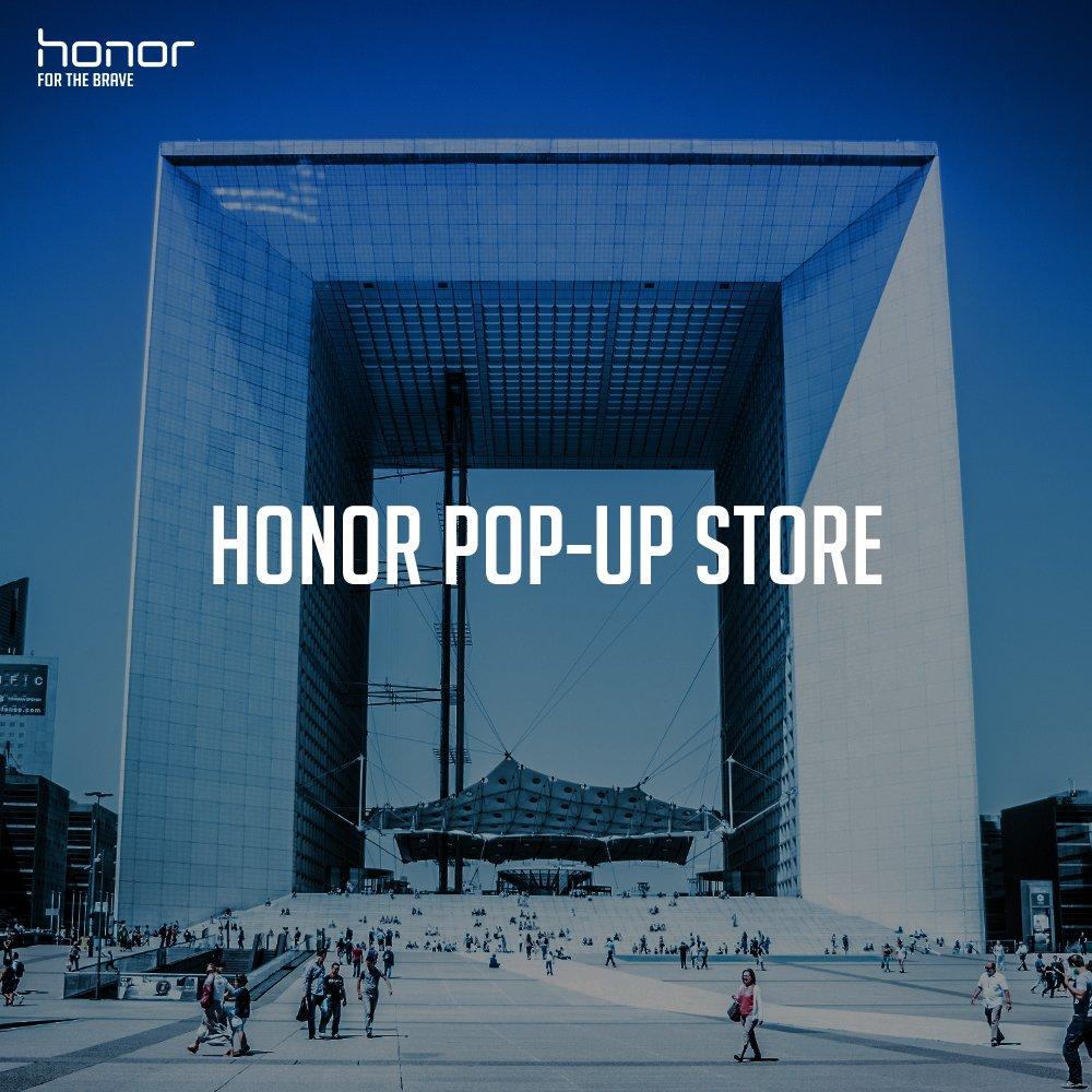 Vous pourrez essayer les produits Honor au 1er pop-up store de la marque à Paris