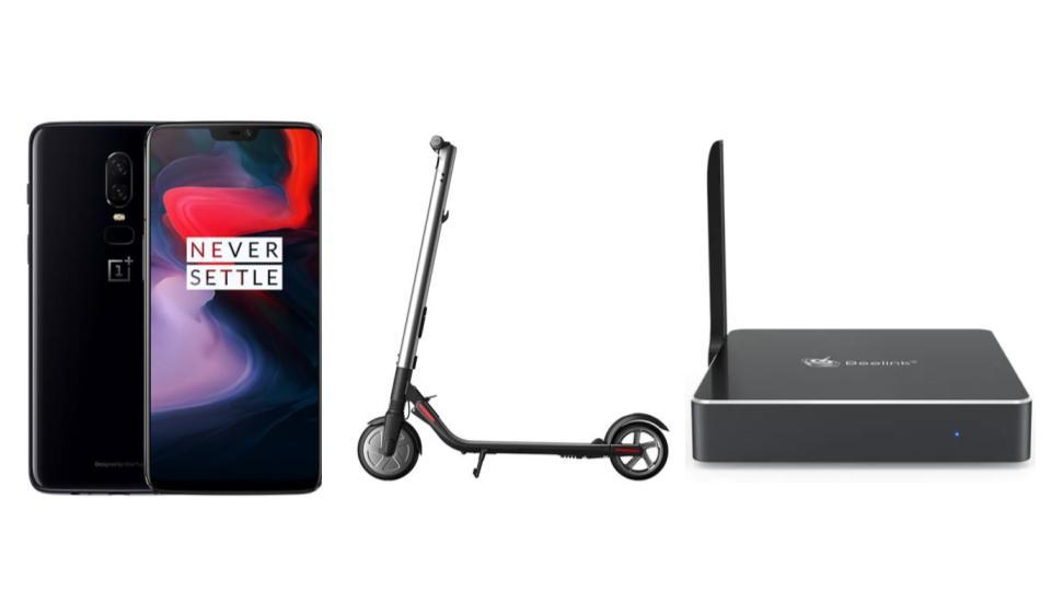 OnePlus 6 à 409 euros, mini PC Beelink à 128 euros et Xiaomi Ninebot ES2 à 365 euros