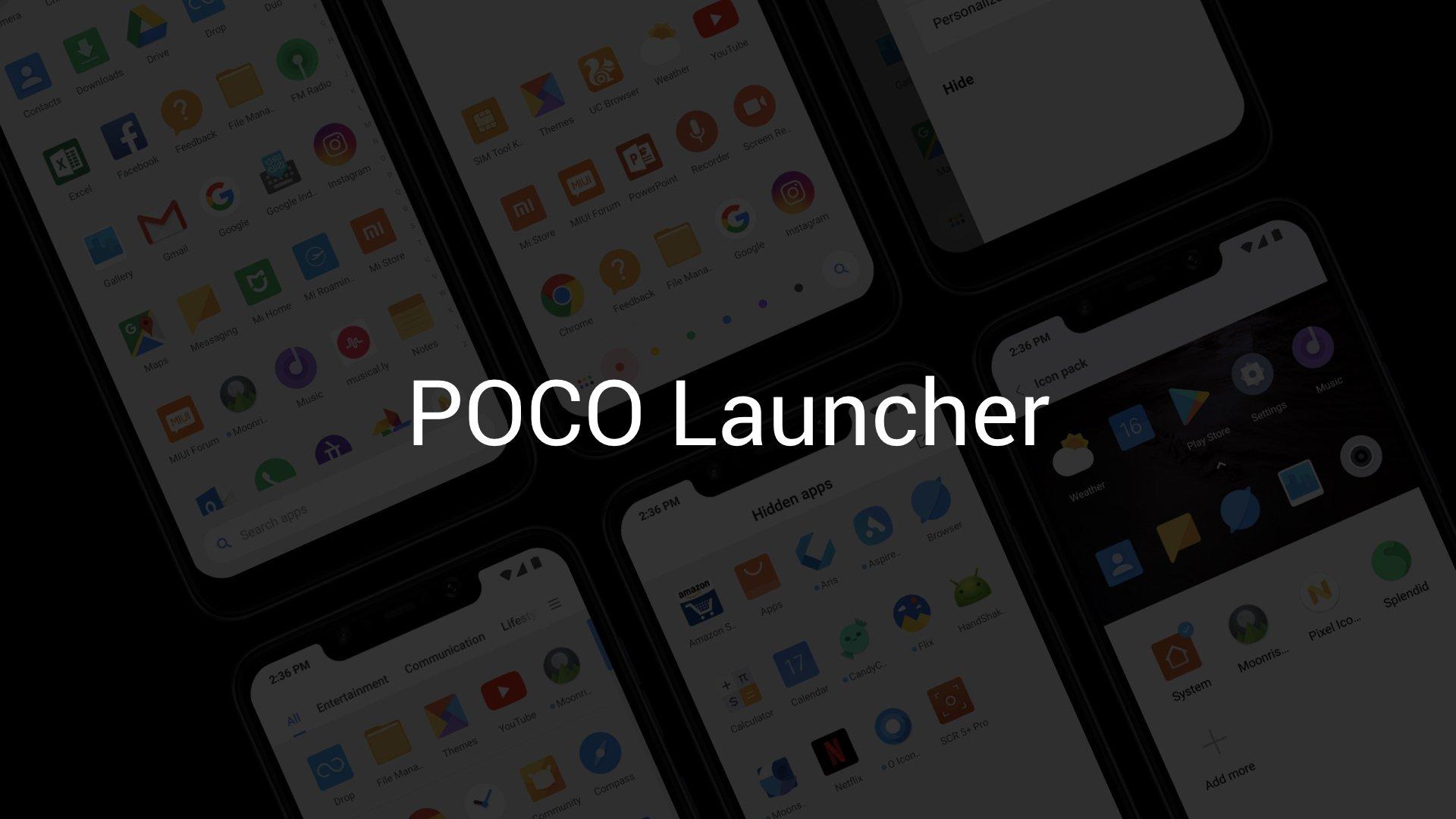 Le Poco Launcher s'équipe d'un thème sombre