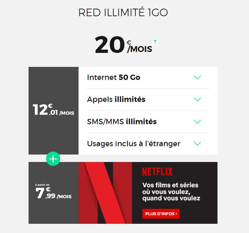 🔥 Bon plan : RED by SFR lance un forfait 50 Go avec Netflix inclus à 20 euros par mois