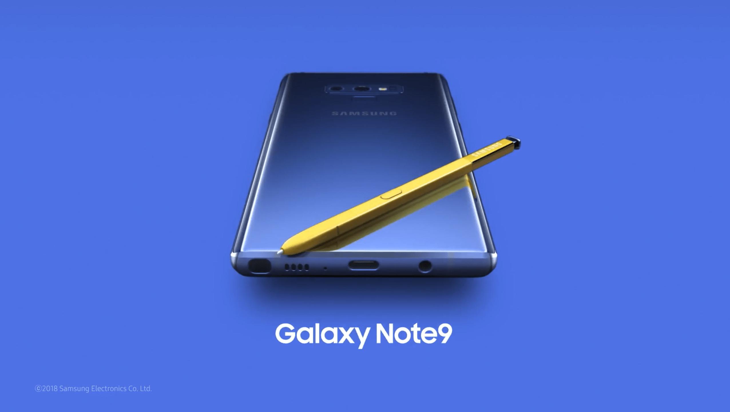 Samsung Galaxy Note 9 : une première vidéo officielle publiée par erreur