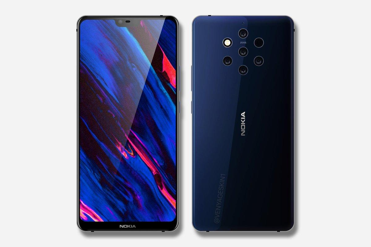 Si le Nokia 9 ressemblait à cela, seriez-vous séduits par son quintuple appareil photo ?