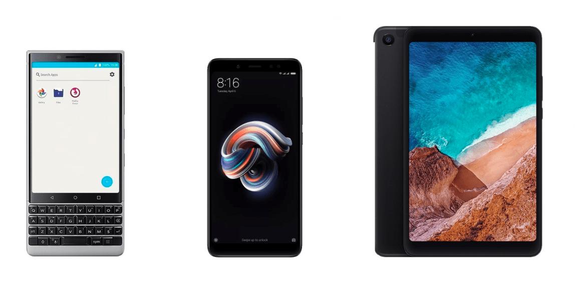 Chasse aux trésors Gearbest : Xiaomi Mi Pad 4 64 Go à 193 euros, Redmi Note 5 à 147 euros et BlackBerry KEY2 à 516 euros
