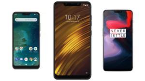 Xiaomi Mi A2 Lite à 155 euros, Pocophone F1 à 302 euros et OnePlus 6 à 389 euros