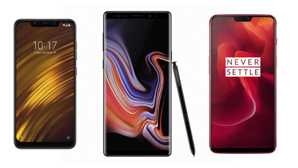 Xiaomi Pocophone F1 à 299 euros, OnePlus 6 à 379 euros et Samsung Galaxy Note 9 à 689 euros sur eBay