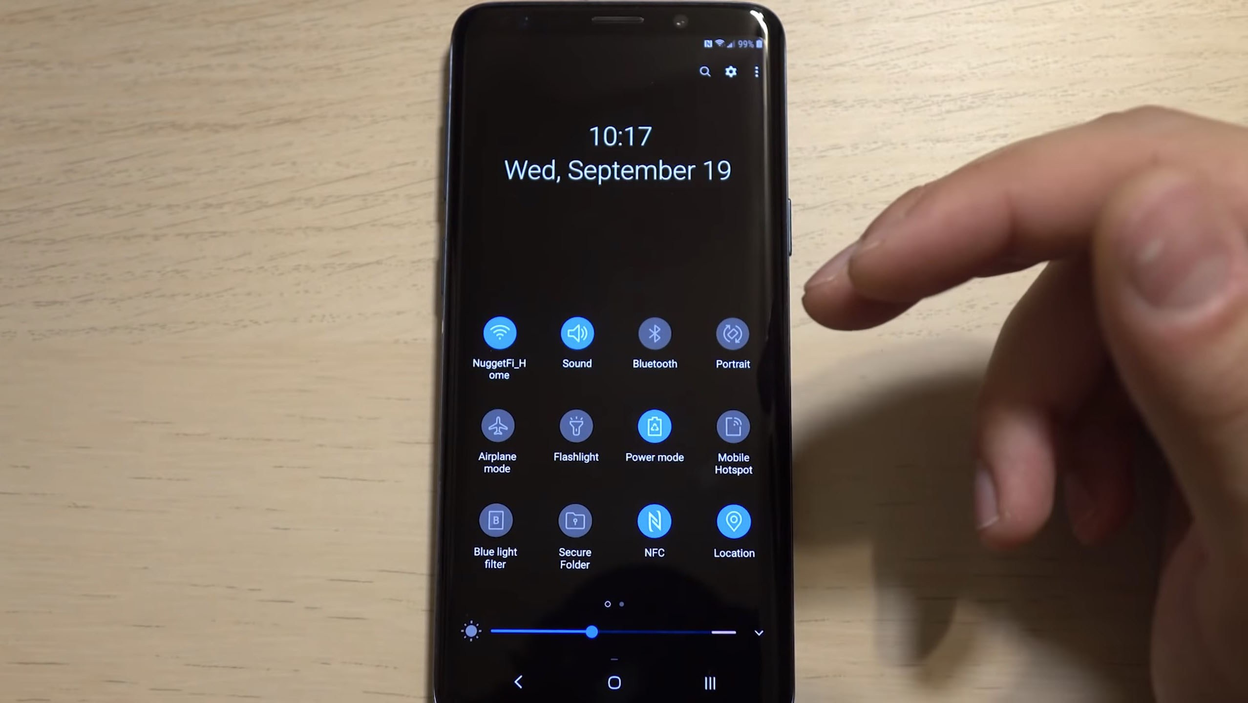 Samsung Galaxy S9 : voilà maintenant un aperçu vidéo d'Android 9 Pie