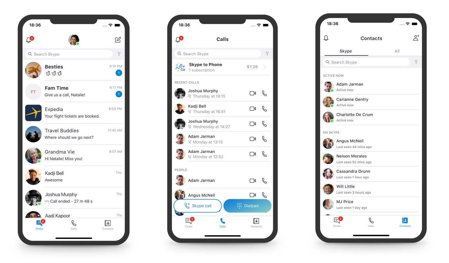 Skype refond son interface : Microsoft abandonne son clone de Snapchat