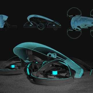 Toyota invente une voiture volante futuriste dont les roues se transforment en hélices