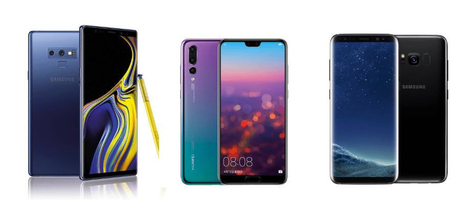 Samsung Galaxy Note 9 à 649 euros, Huawei P20 Pro à 589 euros et Samsung Galaxy S8+ à 399 euros sur eBay