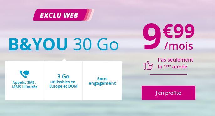 🔥 Dernier jour : forfait mobile avec 30 Go de 4G pour 9,99 euros à vie chez Bouygues