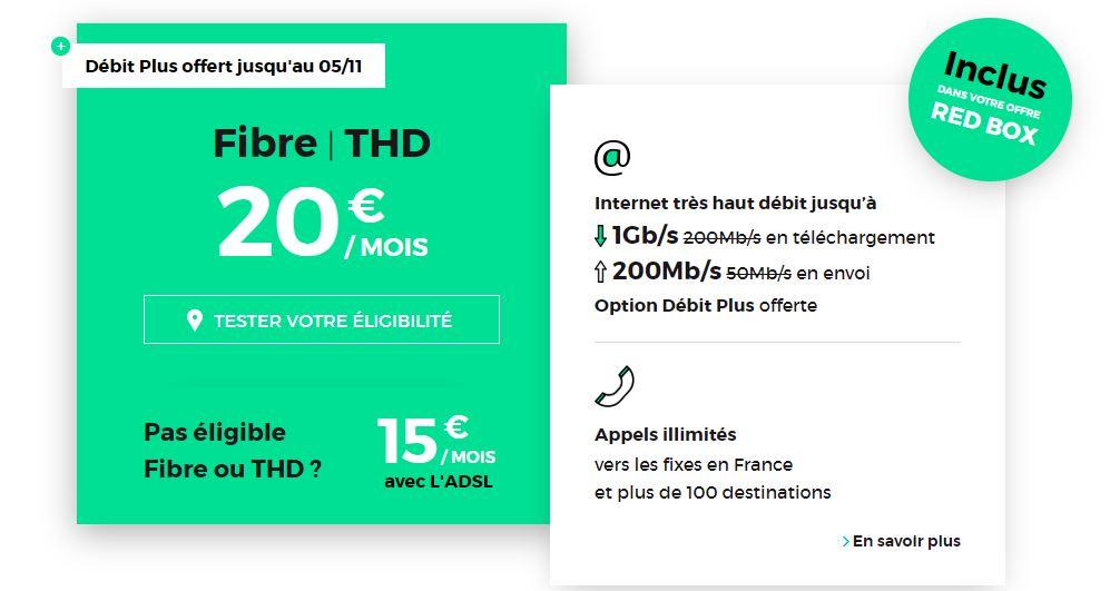🔥 Bon plan : forfait internet Fibre 1 Gbits/s à 20 euros par mois à vie chez RED