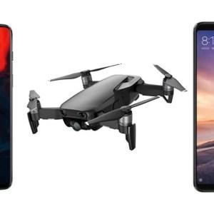 OnePlus 6 à 374 euros, Xiaomi Mi Max 3 à 235 euros et DJI Mavic Air à 730 euros sur GearBest