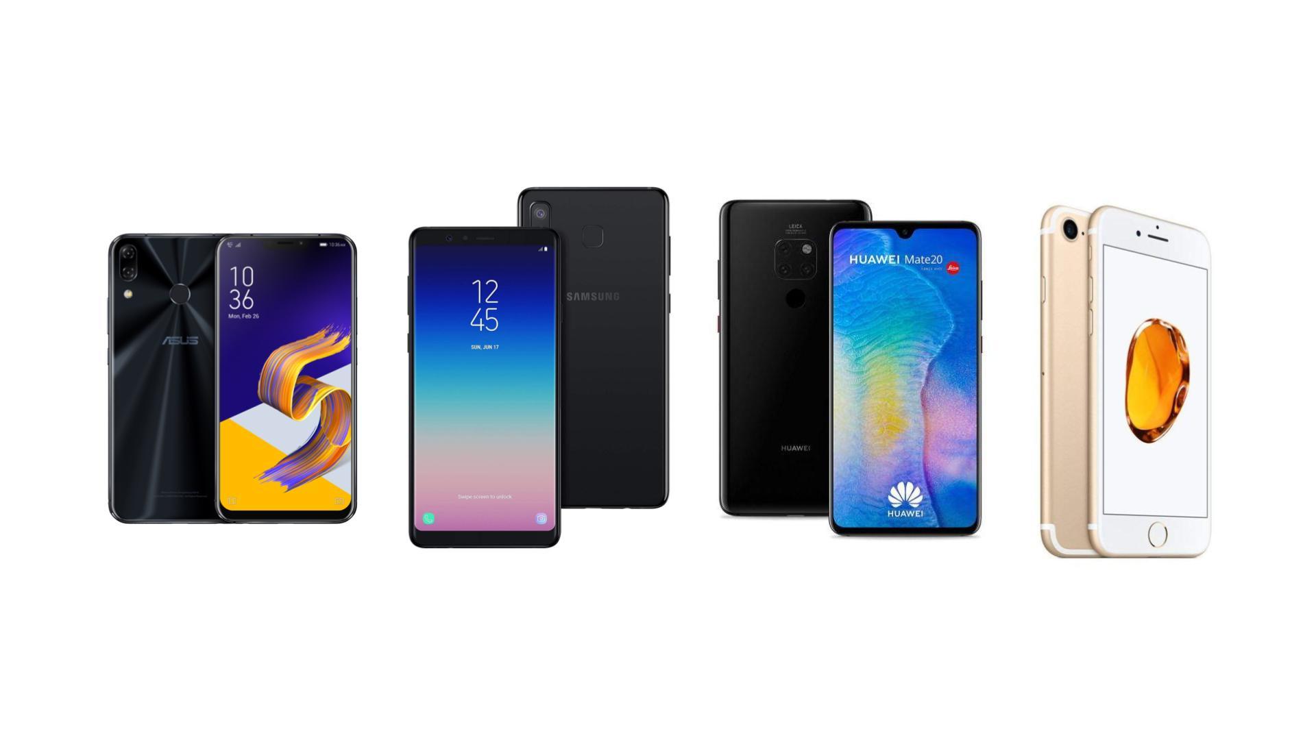 Huawei Mate 20 à 669 euros, iPhone 7 à 320 euros et Zenfone 5 à 269 euros sur eBay