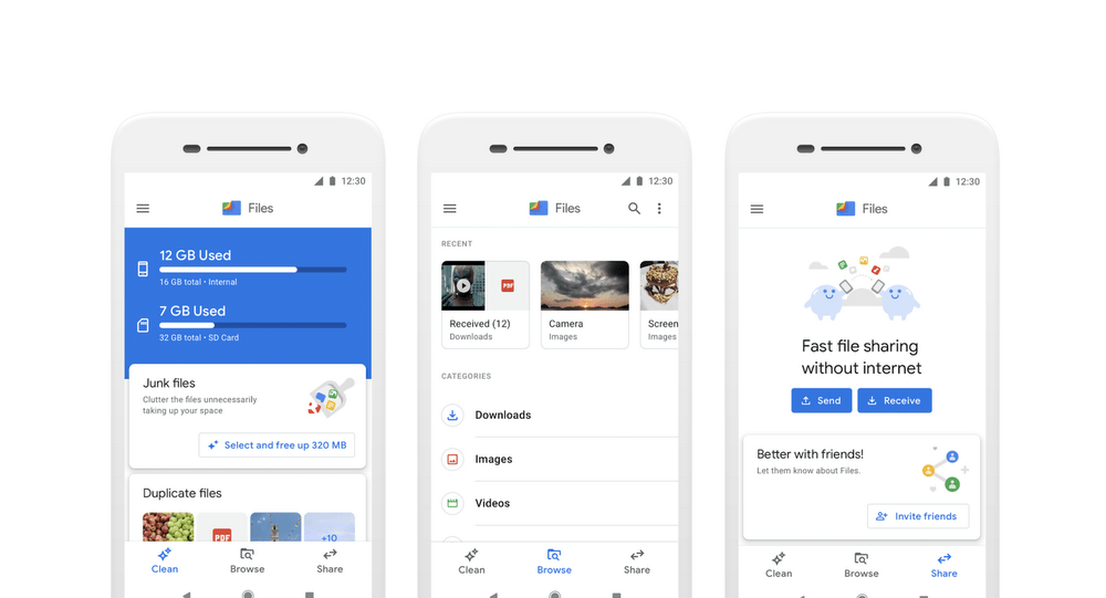 Google Files Go devient Files by Google et change d'interface