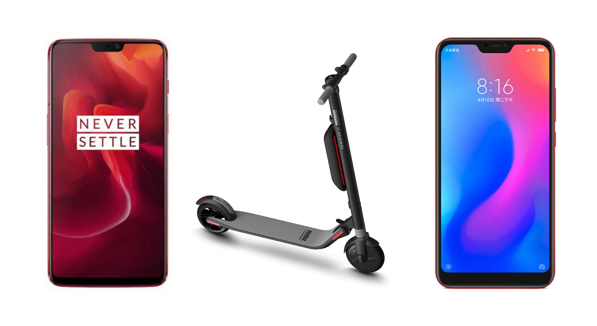 Xiaomi Redmi Note 6 Pro à 153 euros, OnePlus 6 à 400 euros et Ninebot Segway ES2 à 320 euros sur GearBest
