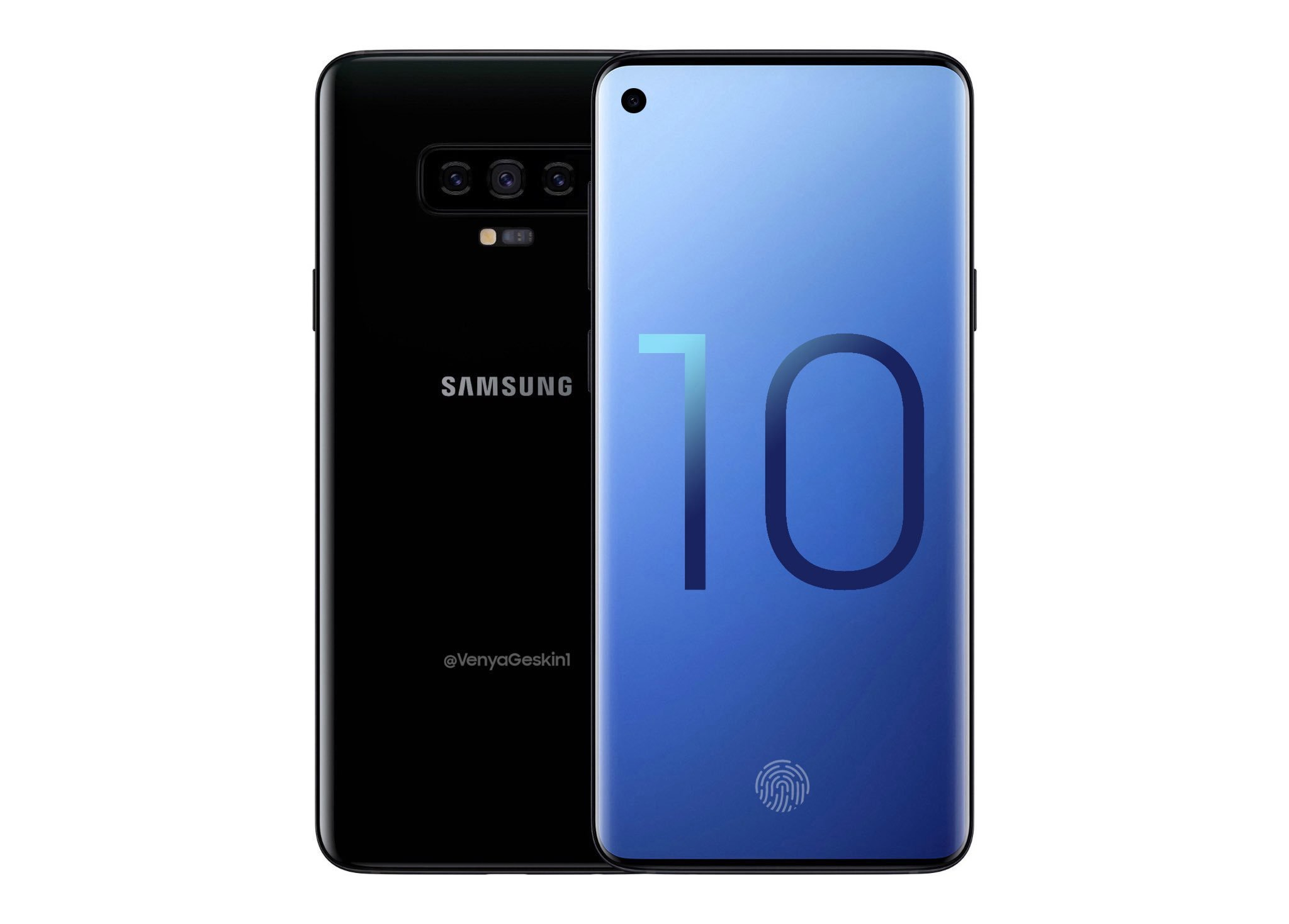 Samsung Galaxy S10 : triple caméra, lecteur d'empreinte à ultrasons et écran Infinity-O confirmés par une nouvelle source