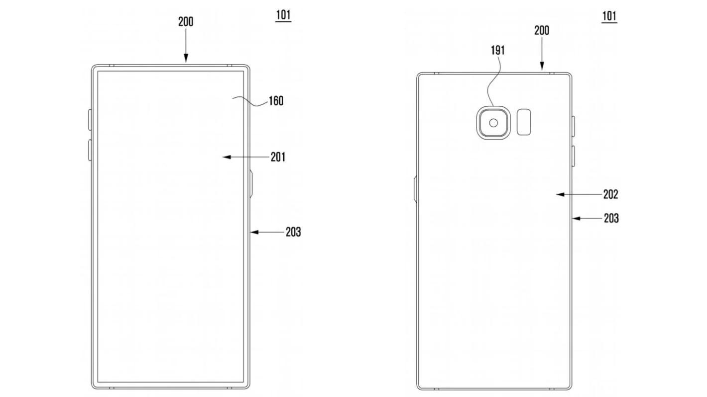 En plus du lecteur d'empreintes, Samsung voudrait aussi cacher la caméra frontale sous l'écran