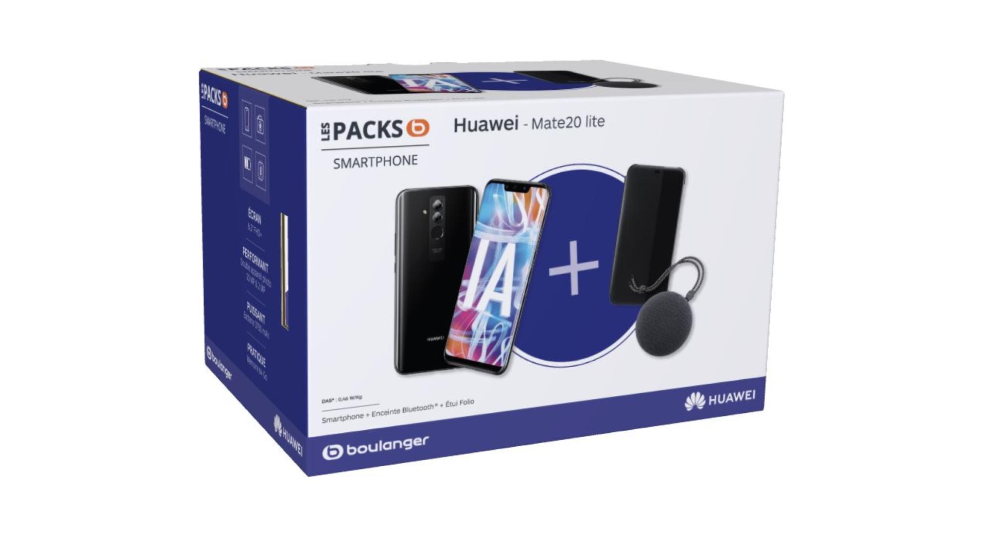 🔥 Bon plan : pack Huawei Mate 20 Lite + enceinte bluetooth + étui à 299 euros