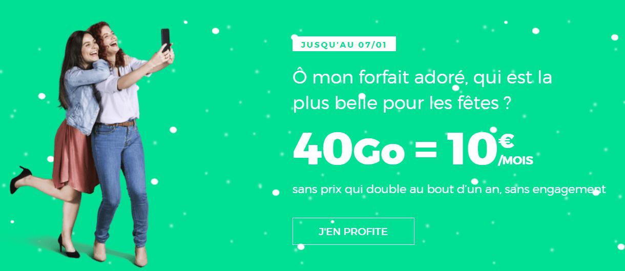 🔥 Bon Plan : le forfait 4G mobile RED by SFR 40 Go à 10 euros par mois avec option livre Youboox