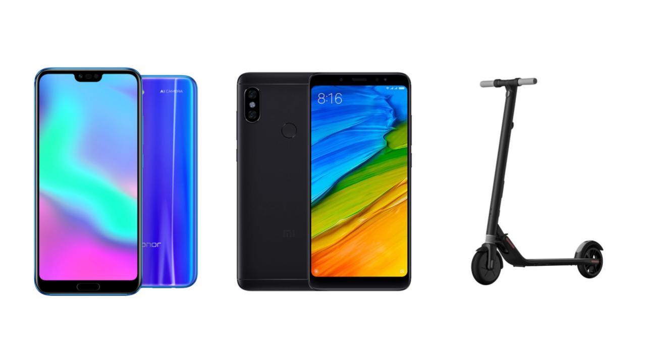 Honor 10 à 306 euros, Xiaomi Redmi Note 5 à 133 euros et trottinettes électriques Ninebot en promotions sur GearBest