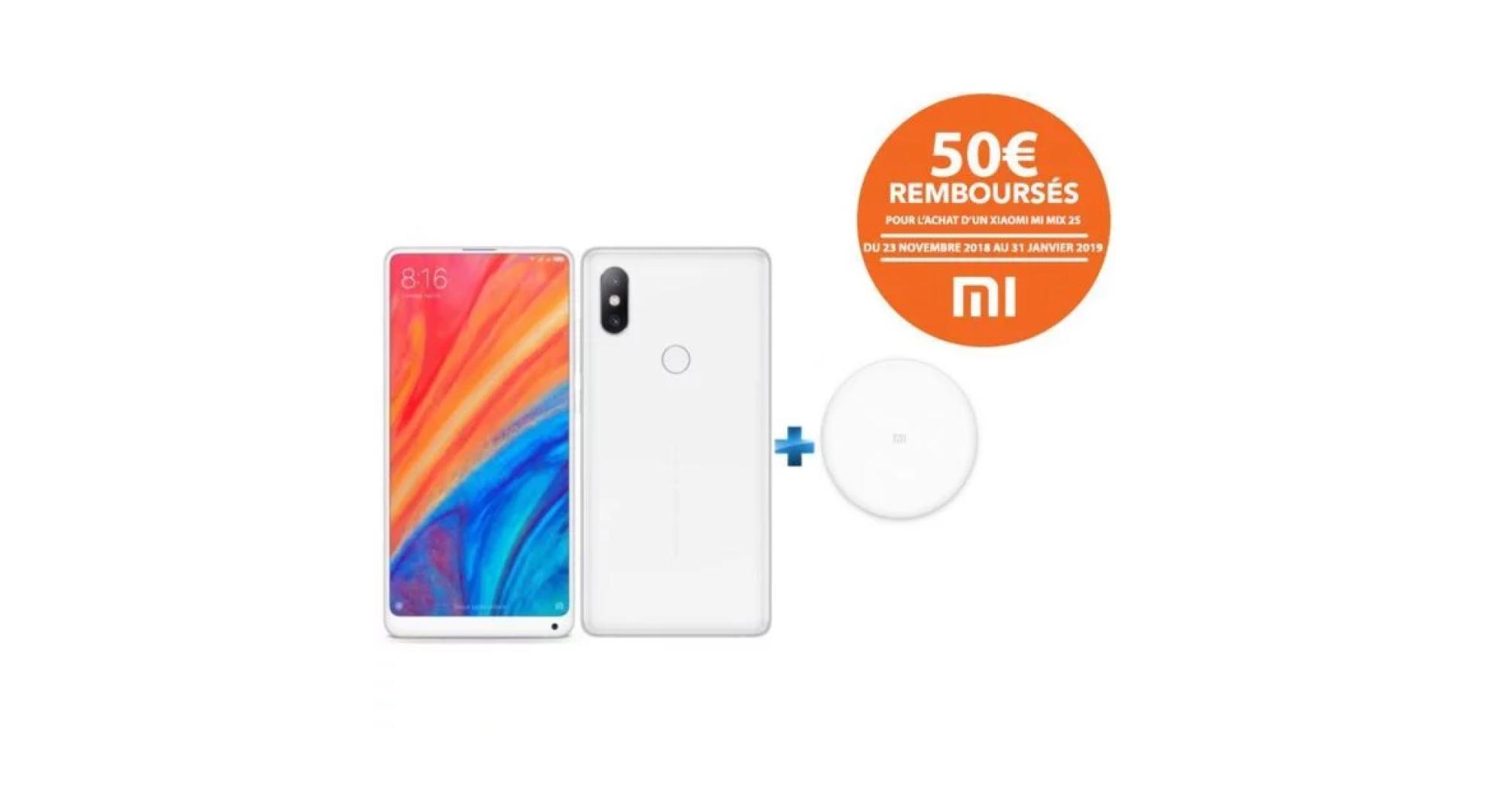 🔥 Bon plan : le Xiaomi Mi Mix 2S (avec chargeur induction) tombe à 299 euros avec ce code promo