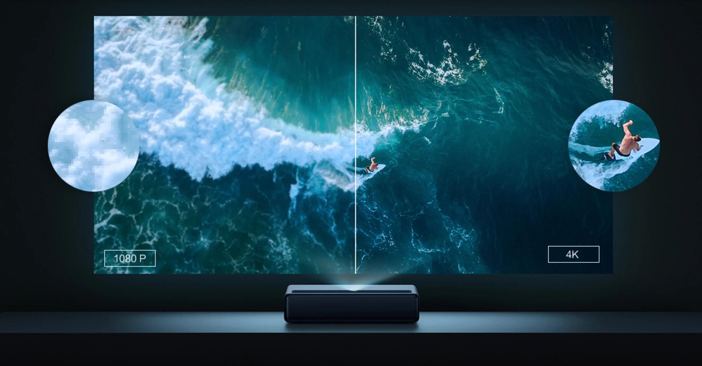 Le vidéoprojecteur Xiaomi Mijia Mi Laser Projector passe à la 4K, enfin presque