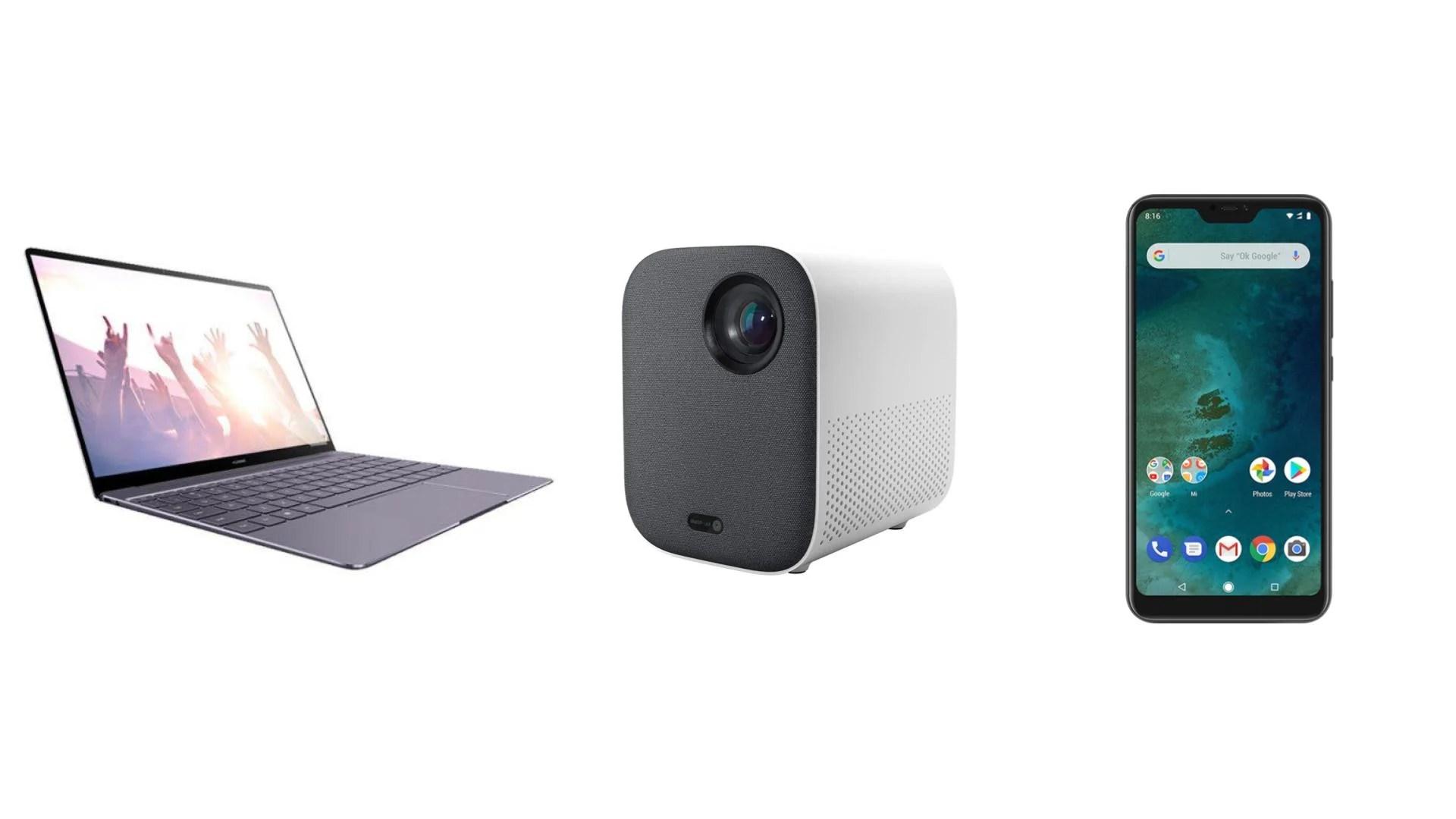 Huawei MateBook 13″ à 708 euros, projecteur 1080p Xiaomi à 469 euros et Xiaomi Mi A2 Lite 64 Go à 168 euros sur GearBest
