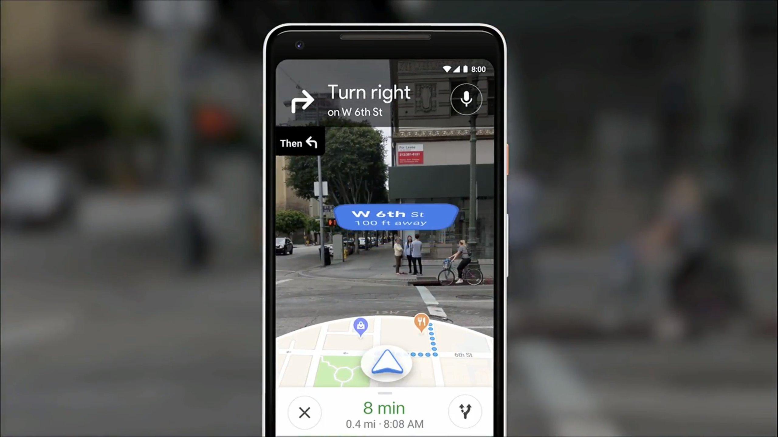 Google Maps : la navigation en réalité augmentée se déploie timidement