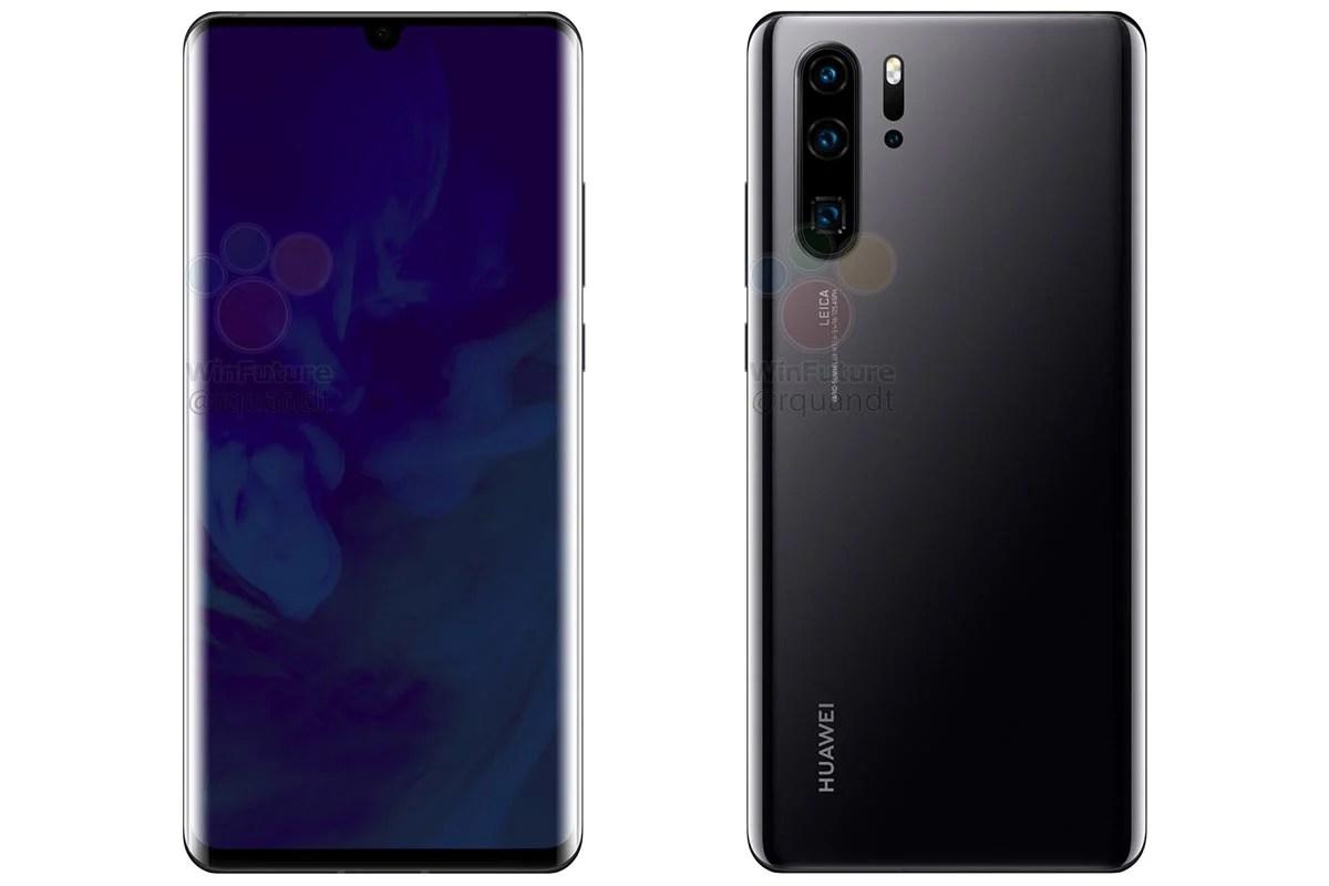 Huawei P30 et P30 Pro : leur design final révélé par ces rendus presse en fuite