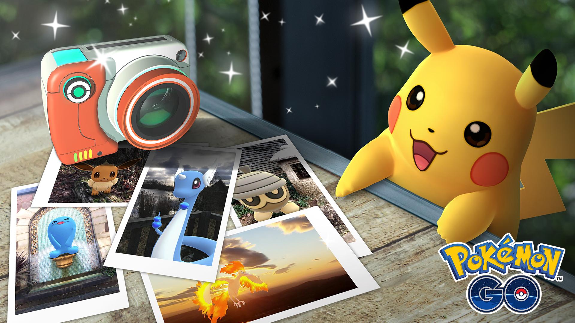 Pokémon GO lance Cliché GO pour que vous preniez en photo vos Pokémon préférés dans la nature