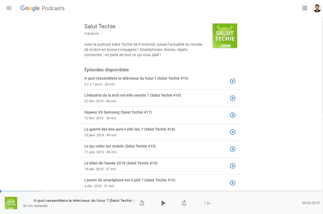 Google Podcasts : une timide apparition sur le web avec lecture et synchronisation
