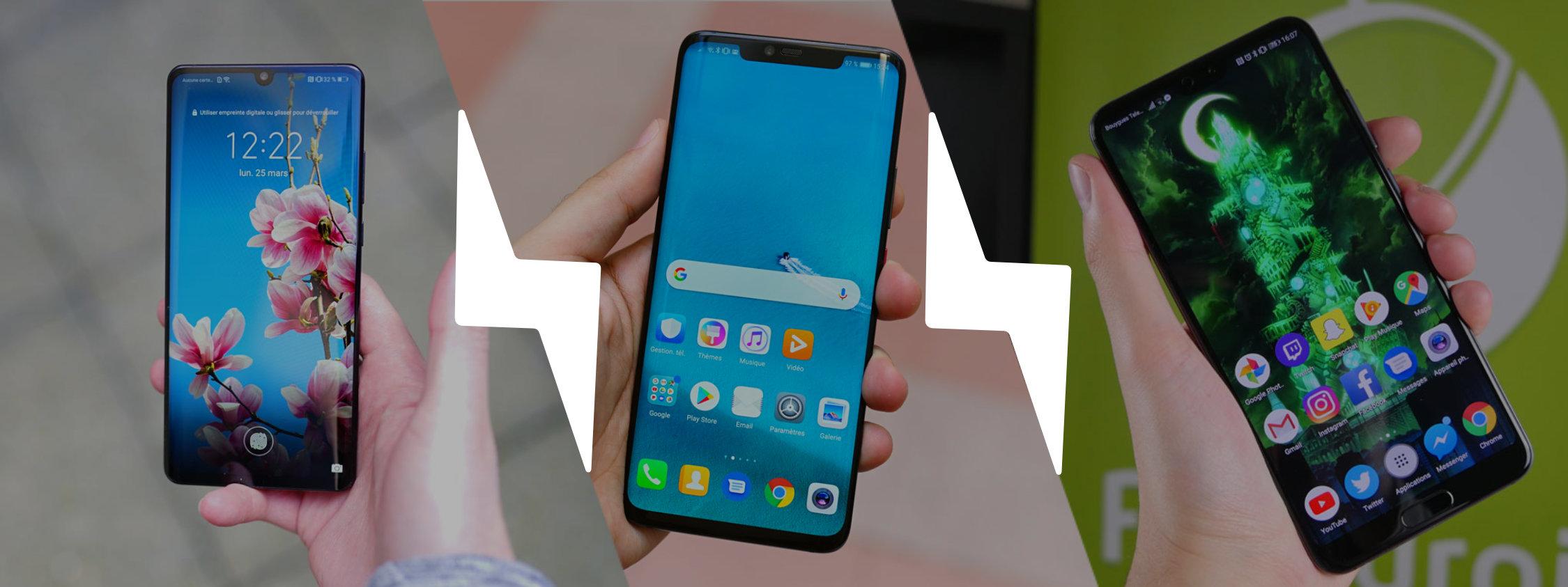 Huawei P30 Pro vs P20 Pro vs Mate 20 Pro : une évolution trop en douceur