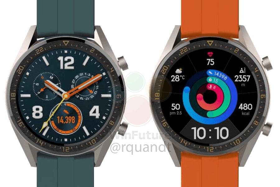 Huawei préparerait deux nouvelles montres Watch GT pour la sortie de son P30